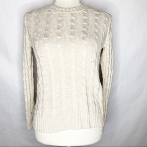 J. Crew Factory Cable Knit Crew Neck Sweater